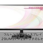 ウルトラワイドディスプレイ LG 29UM57-P 29インチのレビュー